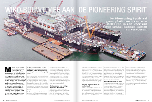 Interview artikel pioneering spirit